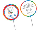 Custom Patriotic Lollipop Favors