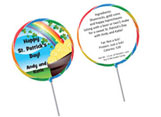St. Patrick's Day lollipop favors