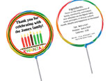 Kwanzaa theme personalized lollipops