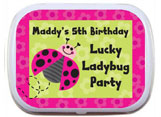 kids birthday mint and candy tins