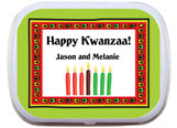 Kwanzaa party favors, mint tins