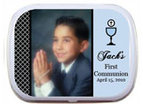 First Communion Mint and Candy Tins