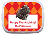 Thanksgiving theme mint and candy tin party favors