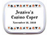 Casino theme mint and candy tins