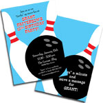 Bowling theme personalized party supplies