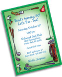 Golf theme personalized party supplies