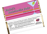 Dining and Drink Theme Candy Bar Wrappers
