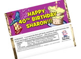 Personalized birthday candy bar wrappers