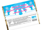 Personalized winter theme candy bar wrappers