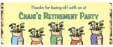 Retirement candy personalized candy bar wrappers