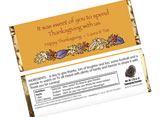 Fall theme candy bar wrappers, personalized