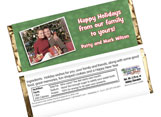 Personalized Christmas Candy Bars and Candy Bar Wrapper
