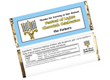 Personalized Chanukah Candy Bar Wrappers