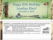 personalized golf theme candy bar wrapper