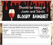 personalized bloody banquet candy bar wrapper