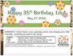 personalized easter theme candy bar wrapper