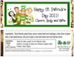 personalized st. patty's day candy bar wrapper