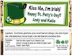 personalized st. patrick's day candy bar wrapper
