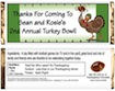 personalized turkey bowl candy bar wrapper