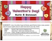 personalized hearts theme candy bar wrapper