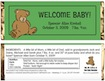 baby shower personalized candy bar wrapper