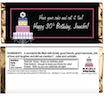 personalized birthday cake candy bar wrapper