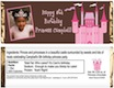 personalized princess candy bar wrapper