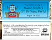 personalized robots theme candy bar wrapper