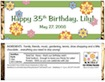 personalized garden theme candy bar wrapper