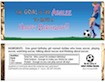 personalized soccer theme candy bar wrapper