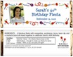 personalized fiesta party candy bar wrapper