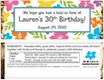 personalized luau theme candy bar wrapper