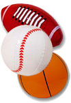 Inflatable sports balls