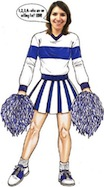 life size cheerleader cutout
