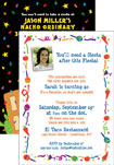 personalized fiesta theme invitations