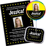 Broadway Theme Sweet 16 party invitations