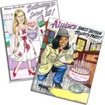 Sweet 16 caricature invitations