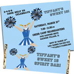Cheerleading theme Sweet 16 party supplies