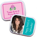 Personalized Sweet 16 mint tins candy favors
