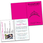 Sweet 16 Passport Invitation