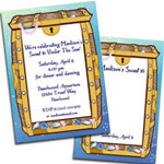 Sweet 16 Under the sea treasure theme invitations