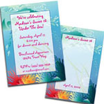 Under the sea theme Sweet party invitations