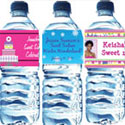 Personalized Sweet 16 water bottle labels