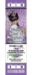 mardi gras birthday photo ticket invitation
