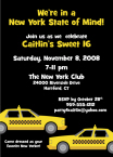 new york cab invitation