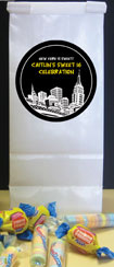 New York Theme Favor Bags