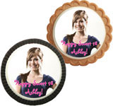 Personalized sweet 16 photo cookies