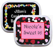 sweet 16 custom mint and candy tins