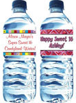Personalized Sweet 16 Water Bottle Label