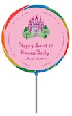 personalized sweet 16 princess lollipop party favor